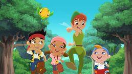 Peter with Jake&Crew-peter pan returns