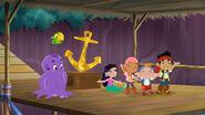 The crew giving Bucky the Golden Anchor