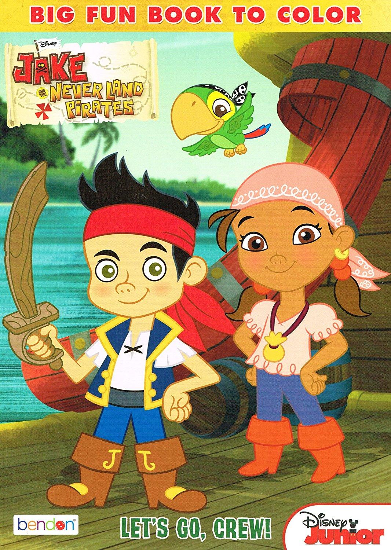 Disney Junior Jake Neverland Pirates Big Fun Coloring Activity Book Color