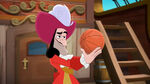 Captain Hook with a basket ball
