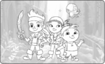 Jake and the Neverland PIrates - Coloring Book in Cave