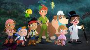 Jake&Izzy&Cubby&Peter Pan&Vendy Darling&John Darling&Michael Darling&Nana&Scully&Tinkerbell