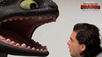 """HOW TO TRAIN YOUR DRAGON THE HIDDEN WORLD Toothless & Kit Harrington - """"Teeth"""""""
