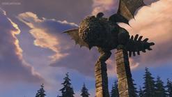 Eruptodon statue