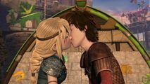 Hiccup and Astrid Kissing Blindsided