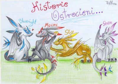 Historie Ostrocieni