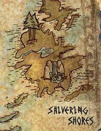 Shivering shores mapa