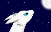 Night Fury Polaris and moon