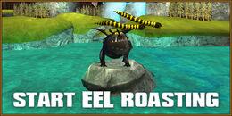 Eel-roasting