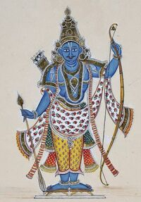 Lord Rama with arrows