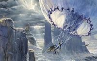 Медуза и банши. Рисунок Джеймса Кэмерона