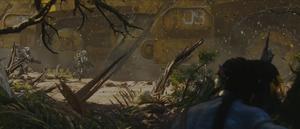 Na'vi kijkt naar een mining operatie