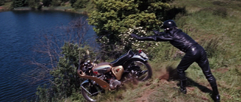 Thunderball - Volpe dumps the motorcycle