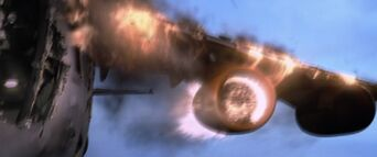 Die Another Day - Graves is sucked into the jet engine