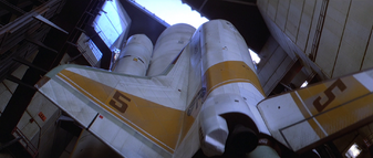 Moonraker 5 in silo, from below (Moonraker)
