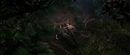 Natalya et Bond inconscients