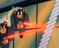 SCUM sky patrol troops