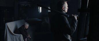 Skyfall - M and Bond wait for Silva