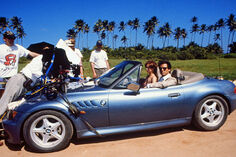 GoldenEye - BMW Z3 with Pierce Brosnan during filming