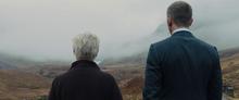 James Bond et M contemplant le paysage
