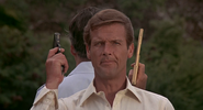 James Bond lors du duel avec Scaramanga