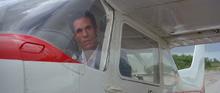 Sanchez dans le petit avion