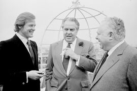 Roger Moore, Albert R. Broccoli, Harry Saltzman