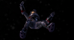 Drake's corpse floats away into space (Nightfire, GC)