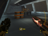 GoldenEye mag-rail in use (GoldenEye - Rogue Agent)