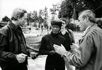 Walken, Glen and Jones on location in A View to a Kill