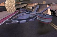 Tiltrotor fighter aircraft (GoldenEye - Rogue Agent)