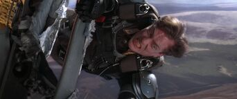 Die Another Day - Graves holds on to the plane