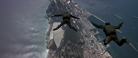 Skydiving to Gibraltar (The Living Daylights)