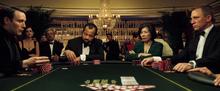 James Bond jouant contre Le Chiffre