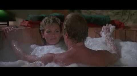 Fiona Fullerton and Roger Moore Hot Tub Scene In A View To A Kill