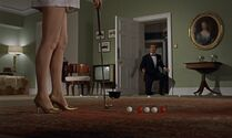 Sylvia Trench putting in 007's bedroom (Dr No)