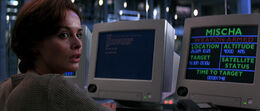 Natalya hacking the GoldenEye System