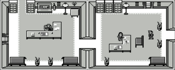 M's office and Moneypenny (James Bond 007, GB)