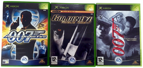 James Bond Xbox game cases
