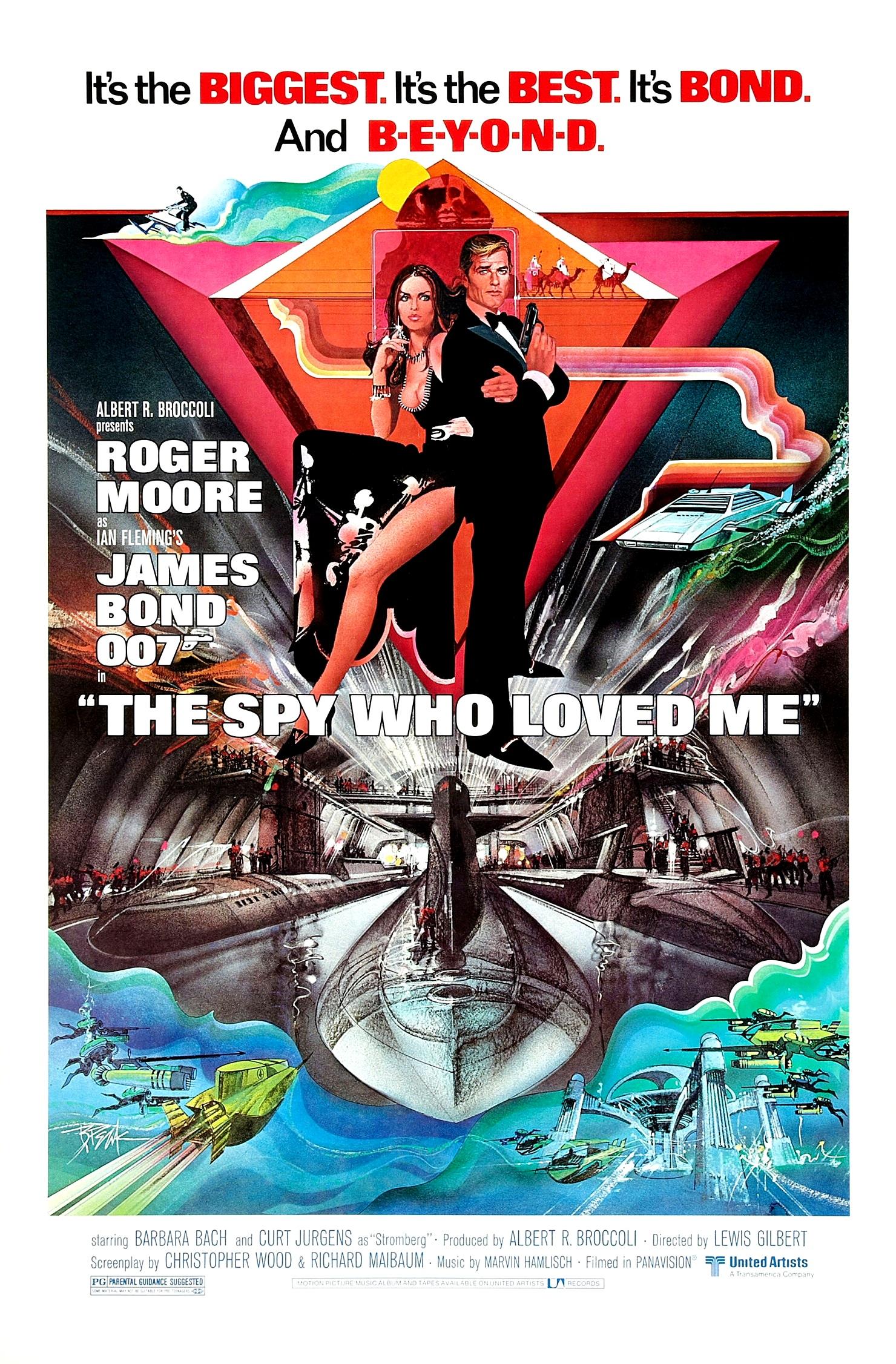 James Bond The Spy Who Loved Me Atlantis Rétro Film T SHIRT 007 cool
