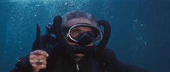 Largo during the underwater battle