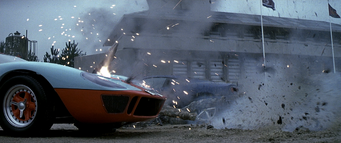 GT40 being shot at (Die Another Day)