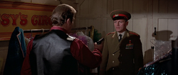 Orlov being confronted with Bond