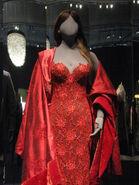 Elektra's red dress display