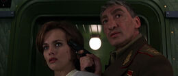 General Ourumov with hostage Natalya (GoldenEye)