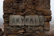 Skyfall lodge sign
