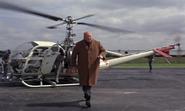 Goldfinger retrouvant Bond à Fort Knox