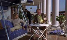 Goldfinger et Galore sur la terrasse
