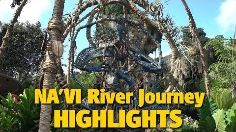 4K Na'vi River Journey Queue & Ride Highlights - Pandora - The World of AVATAR
