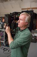 Avatar production image james cameron directing 01